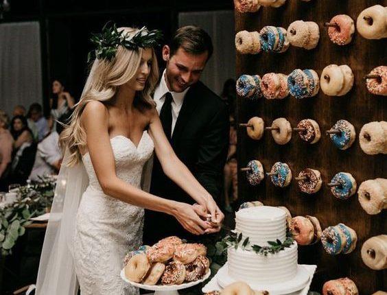 Donut wall wedding bar