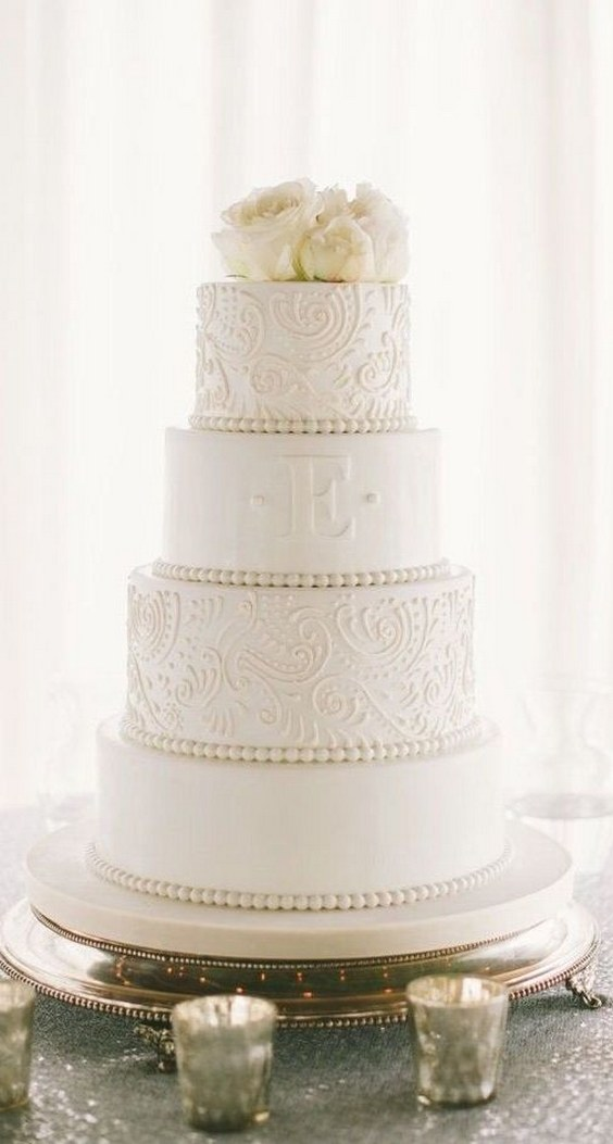 20 Elegant Vintage Buttercream Wedding Cakes Roses