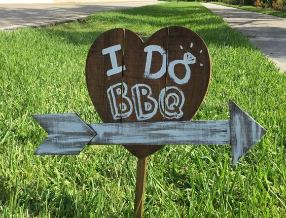 I do BBQ Wooden Yard Sign