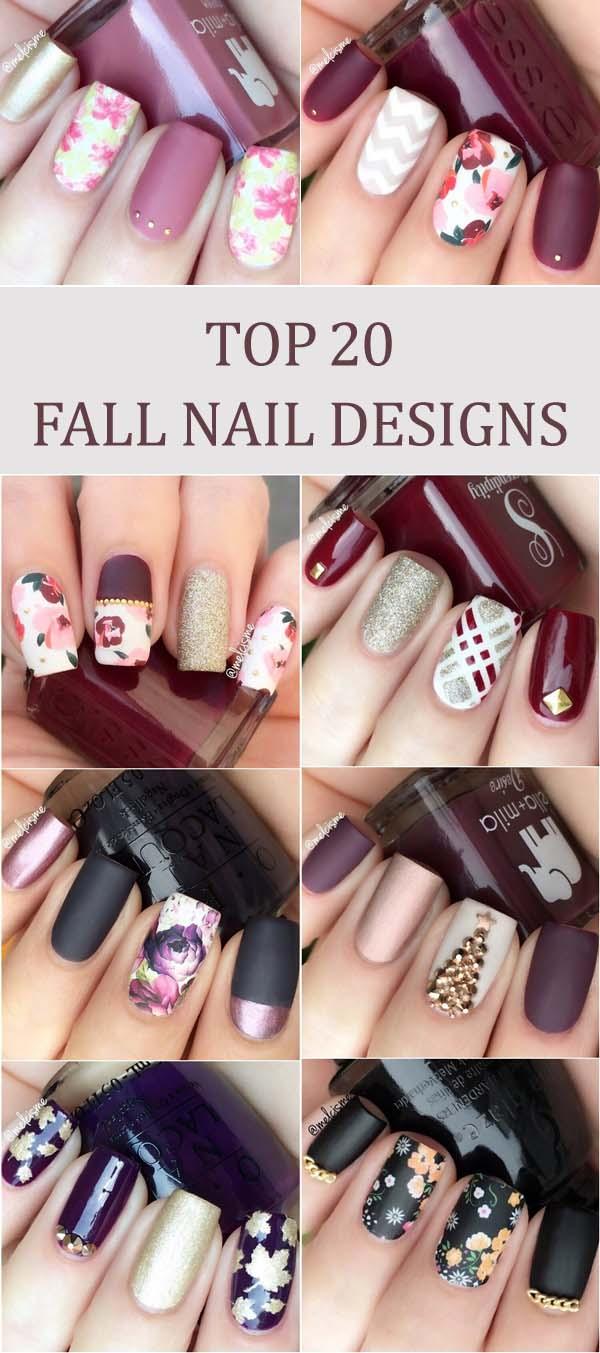 24 Trendy Fall Nail Design Ideas Roses Rings