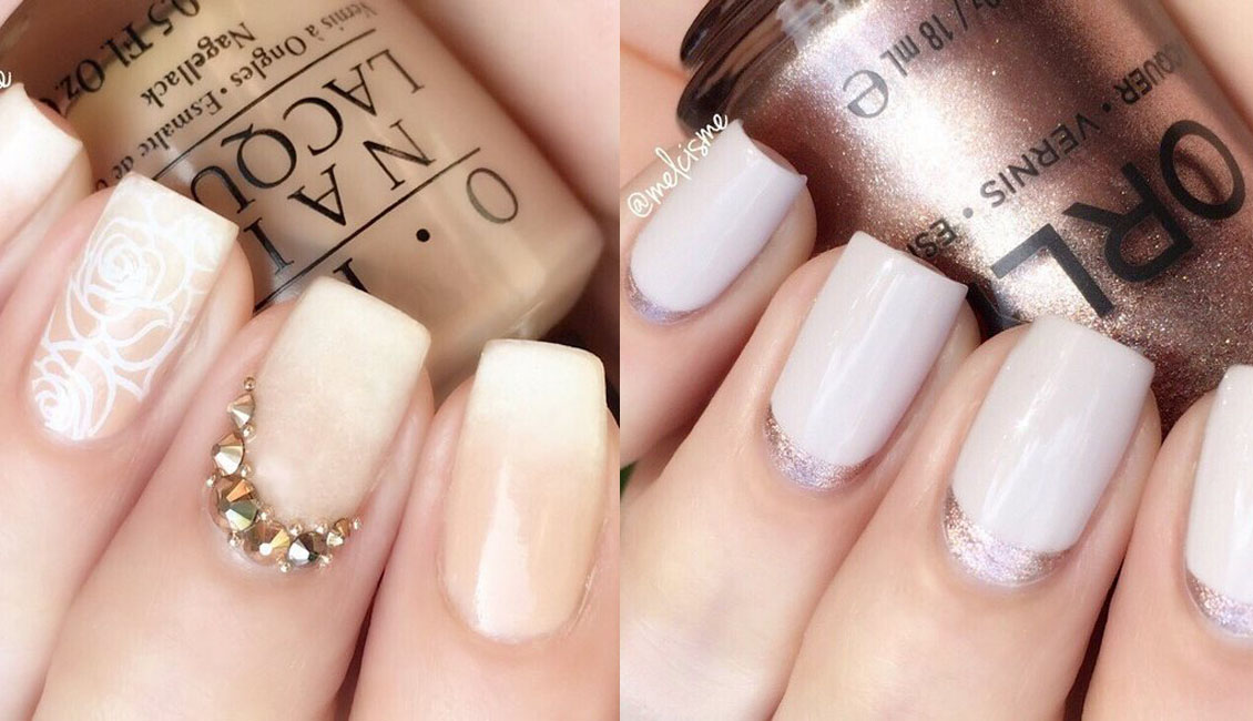 Top 20 Gorgeous Wedding Nail Ideas You\'ll Love | Roses & Rings