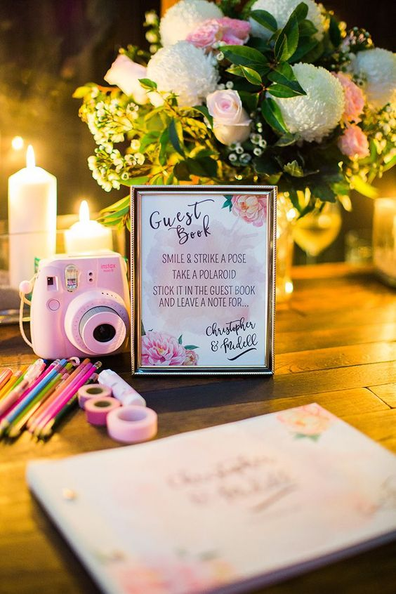Top 20 Polaroid Wedding Guest Books Roses Amp Rings