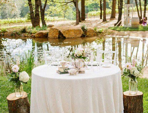 Rustic Wedding Sweetheart Table Decor