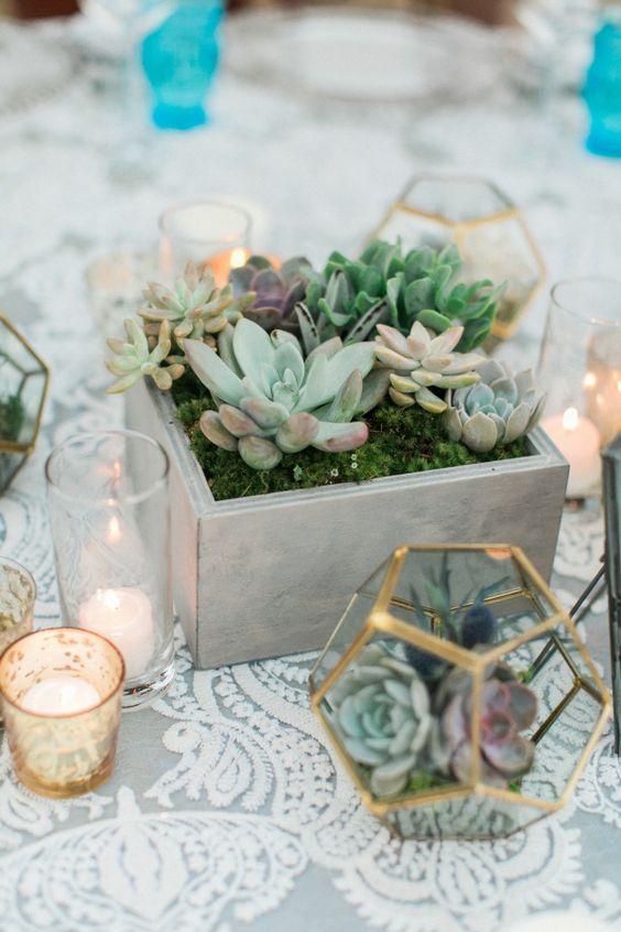 20 Elegant Succulent Wedding Centerpiece Ideas Roses Amp Rings