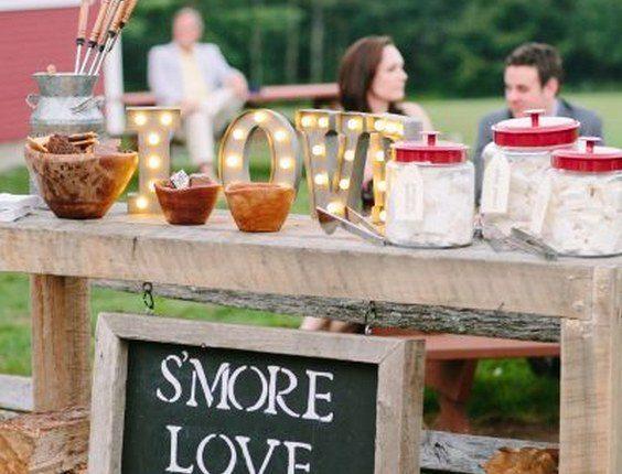 Rustic whimsical wedding bar