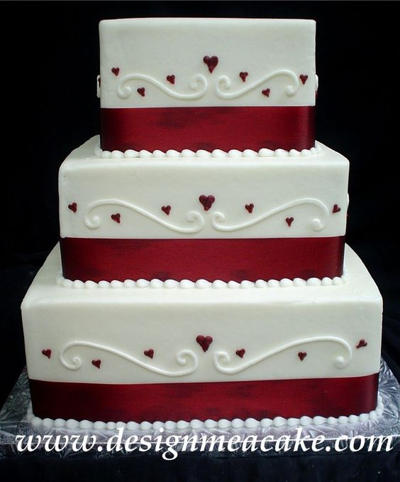 Top 20 Square Wedding Cakes That Wow | Roses & Rings