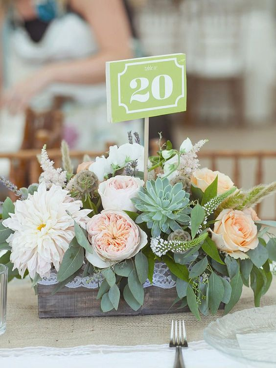 20 Elegant Succulent Wedding Centerpiece Ideas Roses