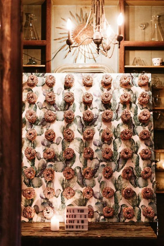 You HAVE To See The 20 Adorable Wedding Donut Bar Ideas Roses & Rings