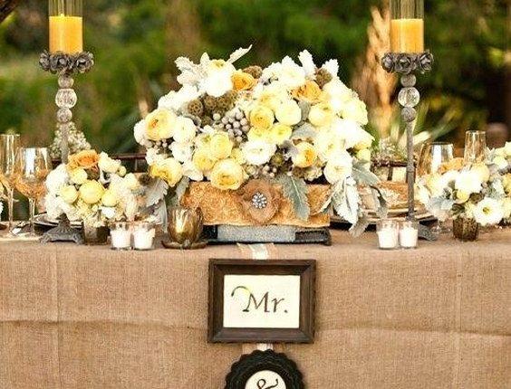 Wedding Table Ideas With Burlap Wedding A Sweetheart Table Daccor