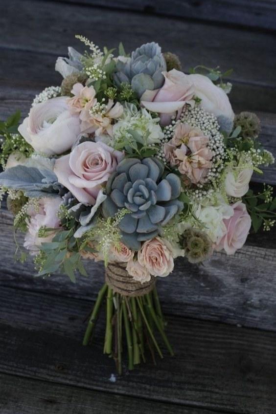 Top 20 Rustic Succulent Wedding Bouquets
