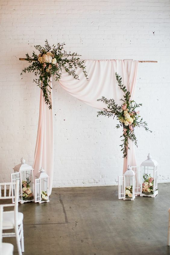 20 Best Floral and Fabric Wedding Arches on Pinterest ...