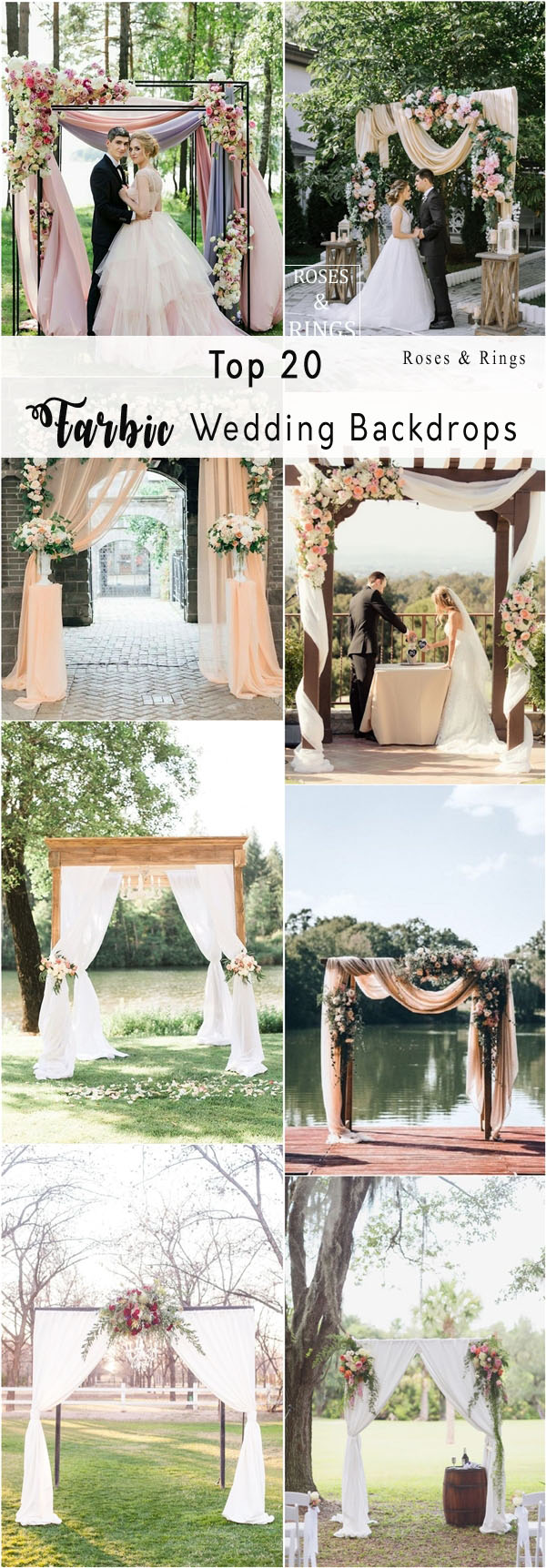 20 Best Floral and Fabric Wedding Arches on Pinterest   Roses & Rings