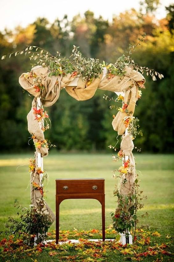 20 Top Rustic Coffee Table And Tv Stand: Top 20 Rustic Burlap Wedding Arches & Backdrop Ideas