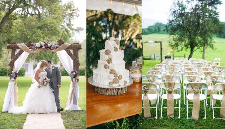 rustic burlap wedding decor ideas