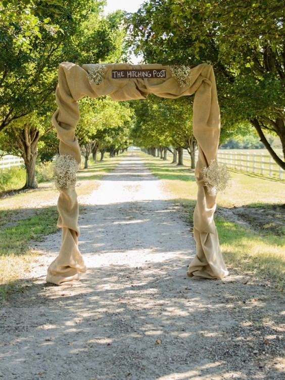 Top 20 Rustic Burlap Wedding Arches Amp Backdrop Ideas