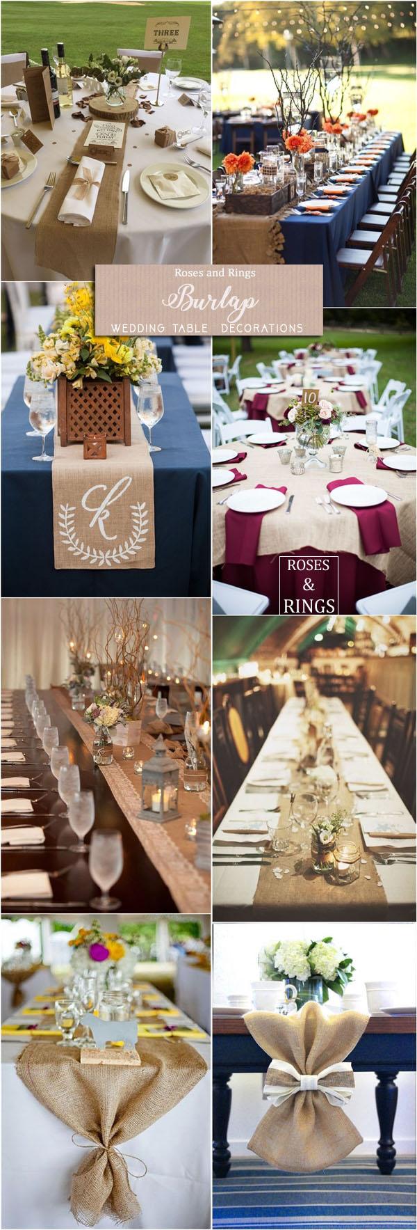 36 amazing rustic country burlap wedding decor ideas roses rings burlap wedding table decor ideas junglespirit Images