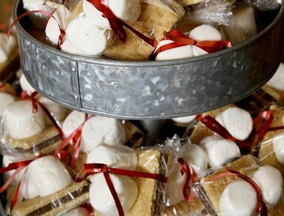 rustic country smores wedding favors