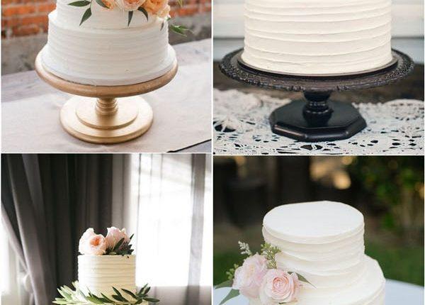 rustic ivory buttercream wedding cakes
