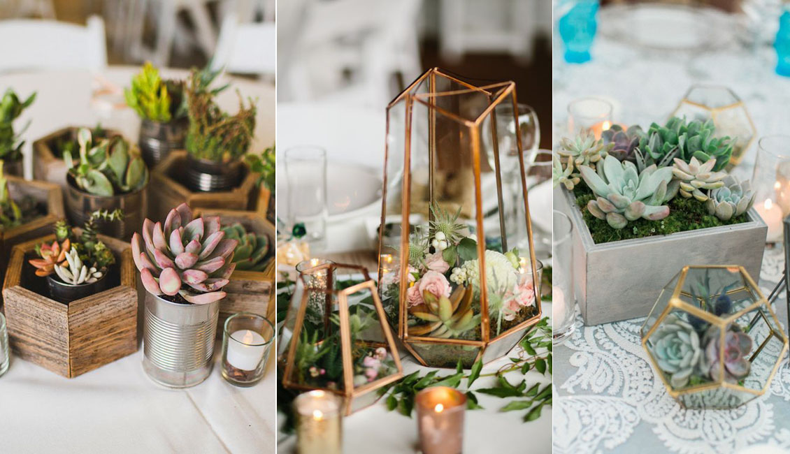 20 elegant succulent wedding centerpiece ideas roses rings succulents wedding centerpiece junglespirit Images