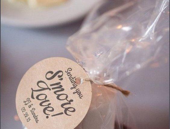 unique wedding favor ideas – smore wedding favors