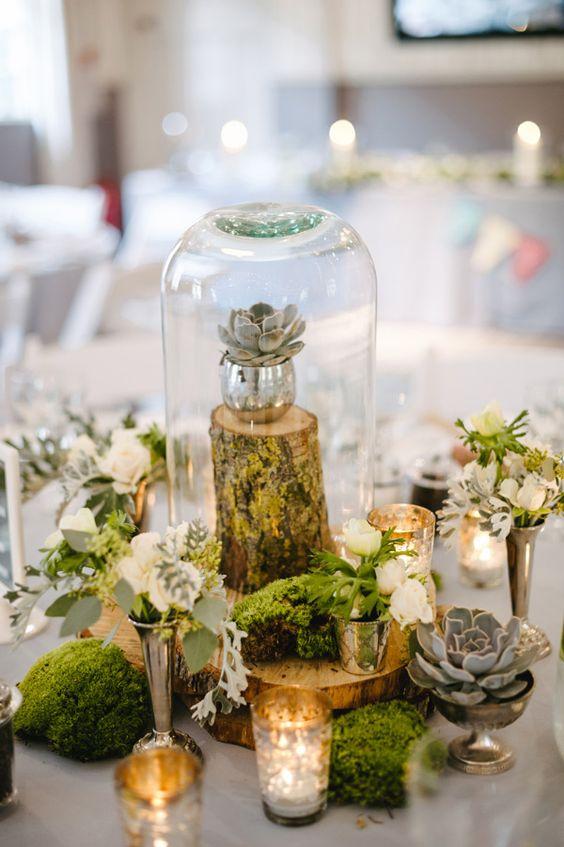20 Elegant Succulent Wedding Centerpiece Ideas | Roses & Rings