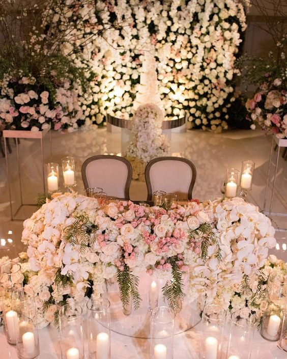Gold Wedding Decorations: Top 20 Luxury Sweetheart Table Decor Ideas