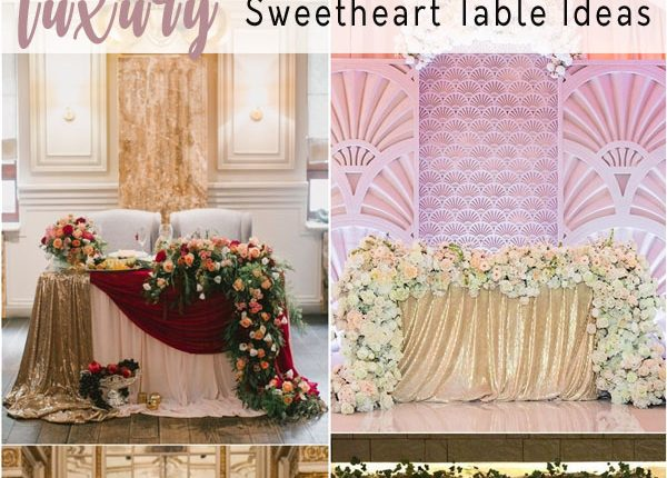 luxury sweetheart table for wedding