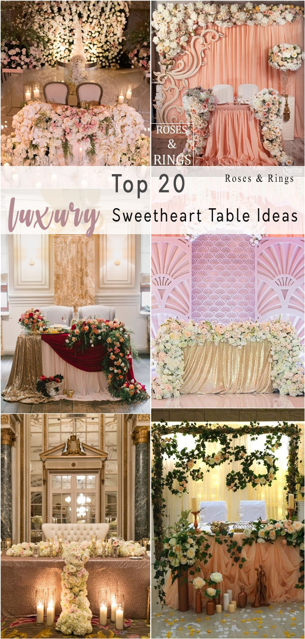 luxury sweetheart table for wedding