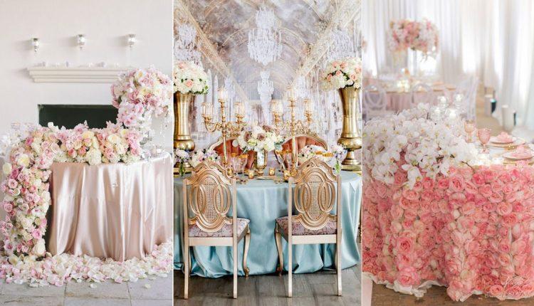 luxury wedding sweetheart table