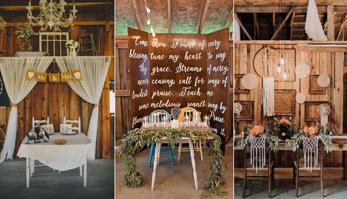 Top 20 Sweetheart Table Decor Ideas For Barn Weddings Roses Rings