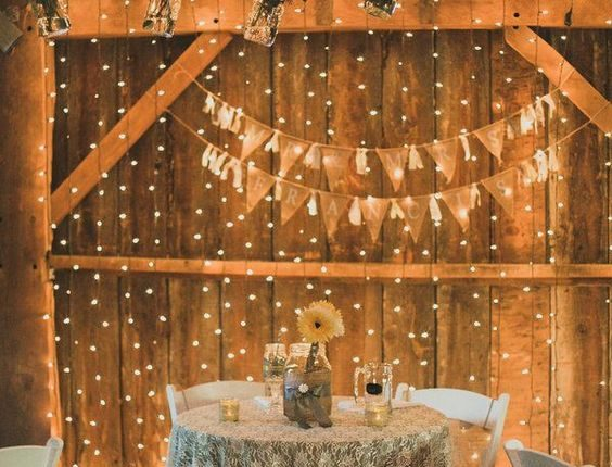 rustic country lace sweetheart table decor