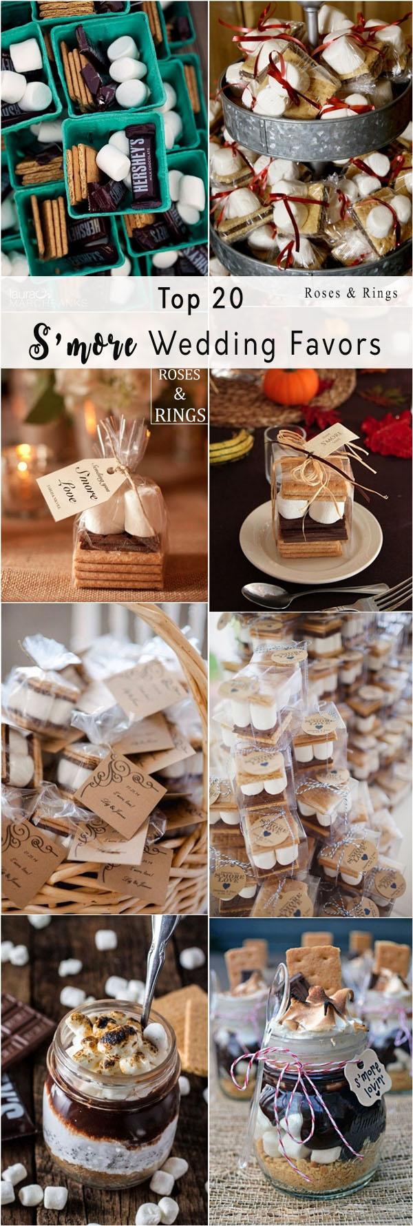 Top 20 Rustic Smore Wedding Favor Ideas Roses Rings