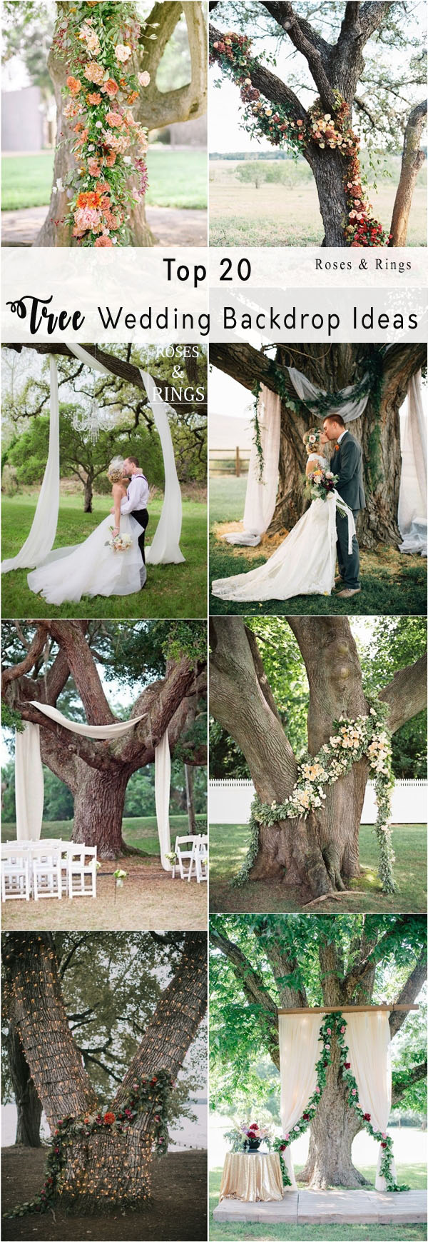 Top 20 Wedding Tree Backdrops And Arches Roses Amp Rings