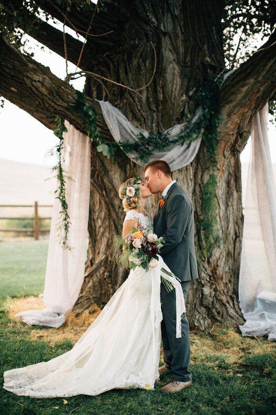 Outdoor Wedding Ceremony Arch Backdrop Ideas