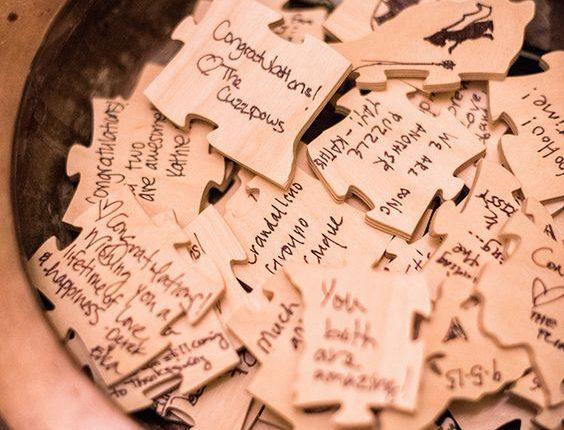 Guest Book Puzzle Pieces