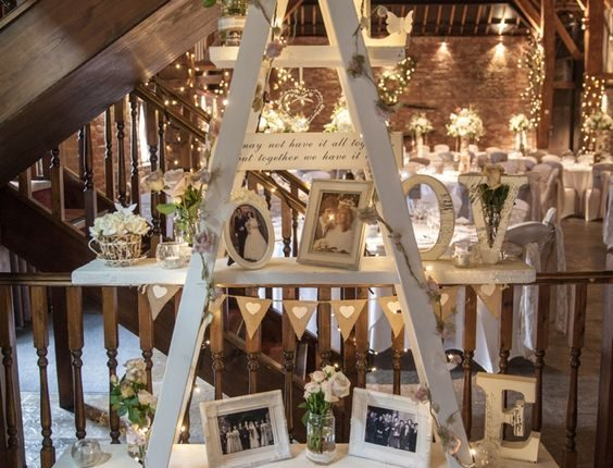 Vintage Wedding Ladder Decor