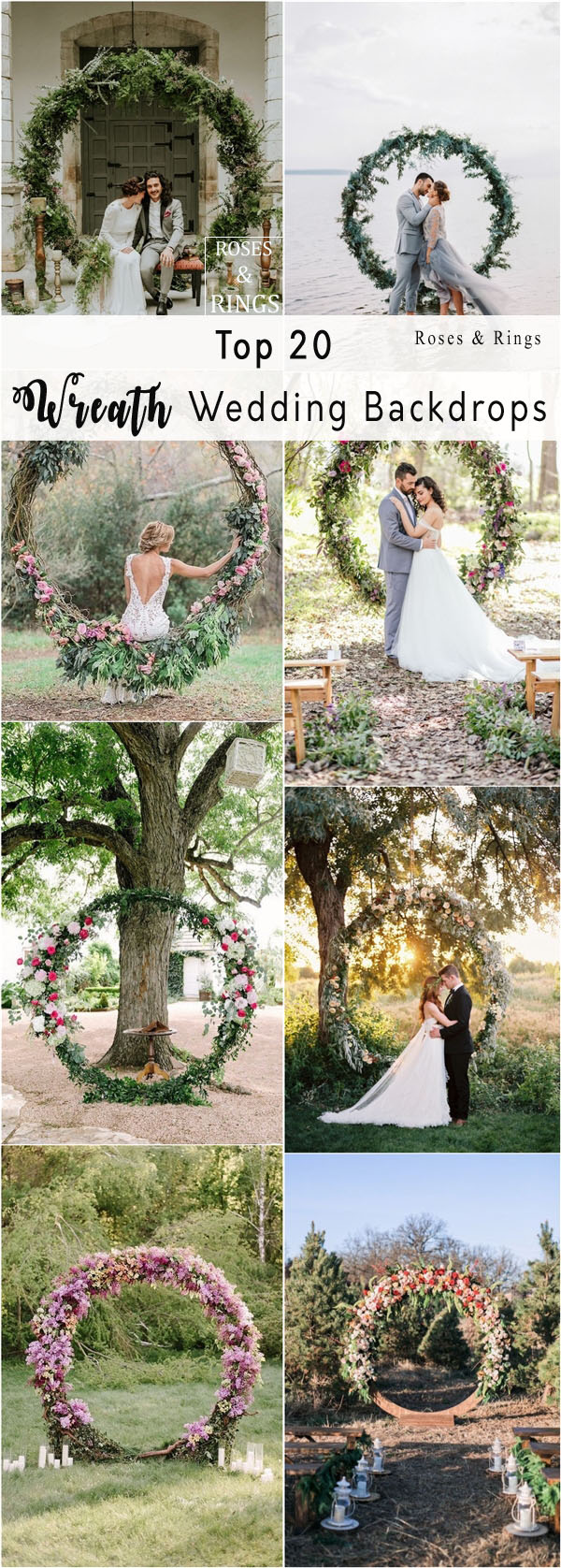 Top 20 Wreath & Circle Wedding Arches & Backdrops | Roses & Rings