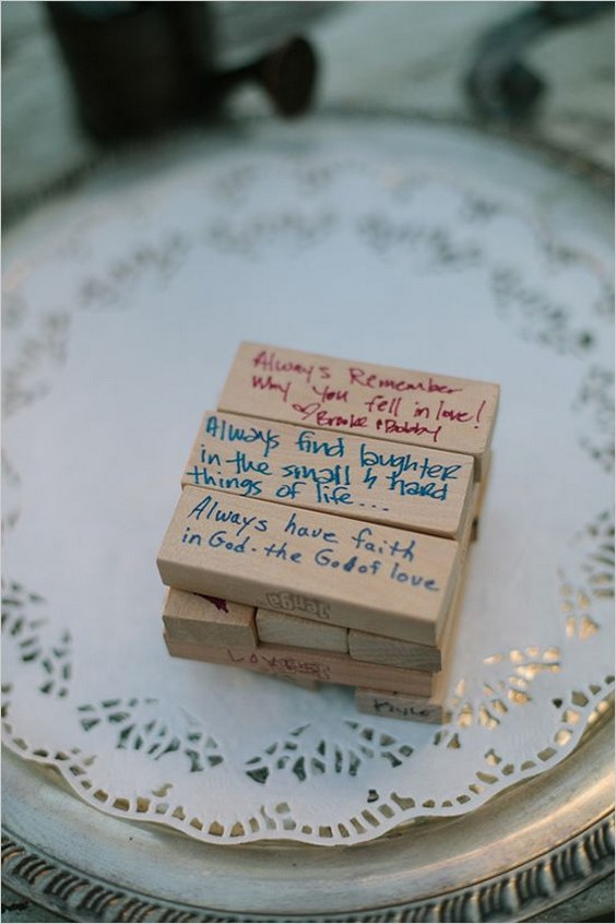 20 Puzzles And Jenga Wedding Guestbook Ideas Roses Amp Rings