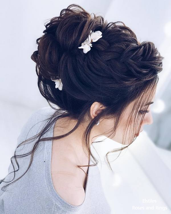 Top 20 Elstiles High Updo Wedding Hairstyles Roses Rings