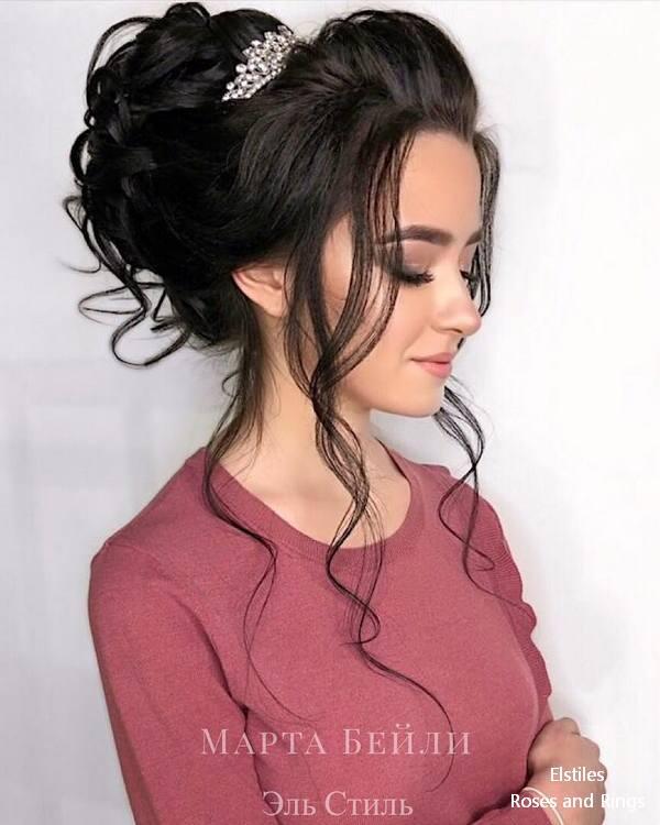 Top 20 Elstiles High Updo Wedding Hairstyles Roses Rings