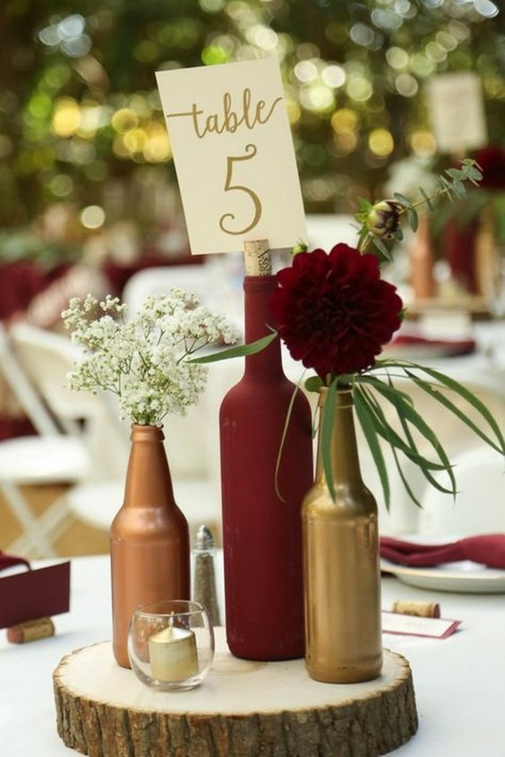 20 Burgundy Wedding Centerpieces | Roses & Rings - Part 2