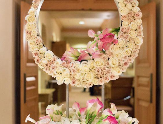 Mirror Wedding Centerpiece