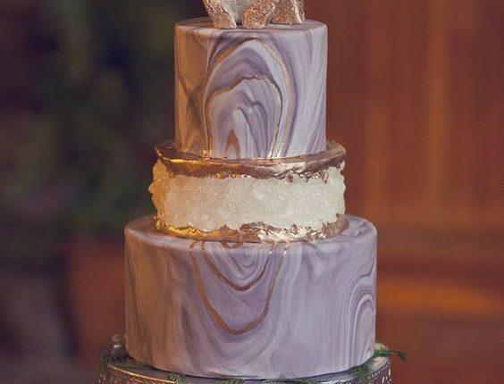 Purple Geode cake by Liz Marek