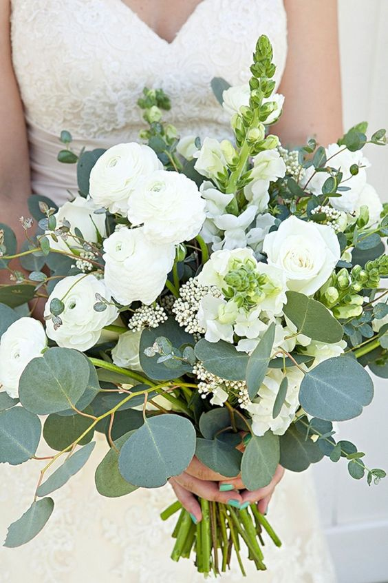 20 Best Greenery Wedding Bouquets Roses Amp Rings