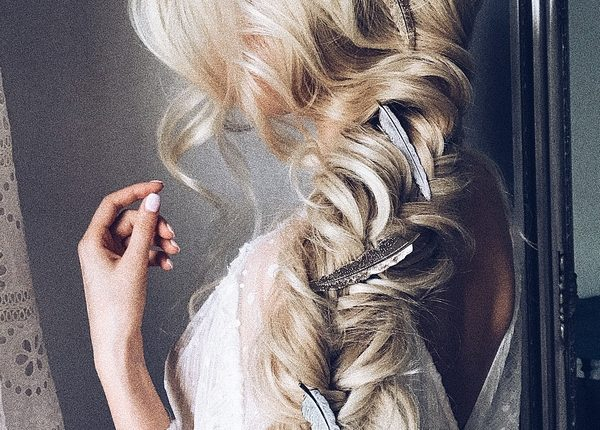 Ulyana Aster Long Wedding Hairstyles and Updos 10