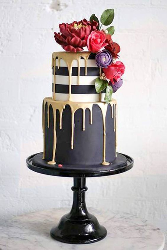 Rose Gold Marble Cake