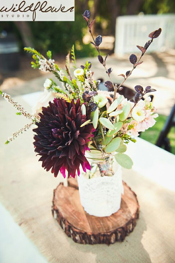 20 Burgundy Wedding Centerpieces Roses Amp Rings Part 2