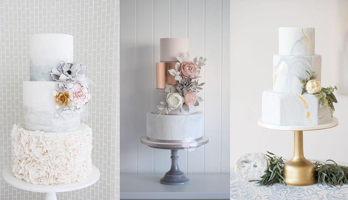 Wedding Trends 20 Marble Wedding Cakes Roses Rings