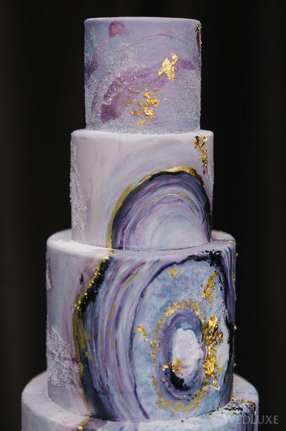 Top 20 Amethyst Geode Wedding Cakes Roses Amp Rings