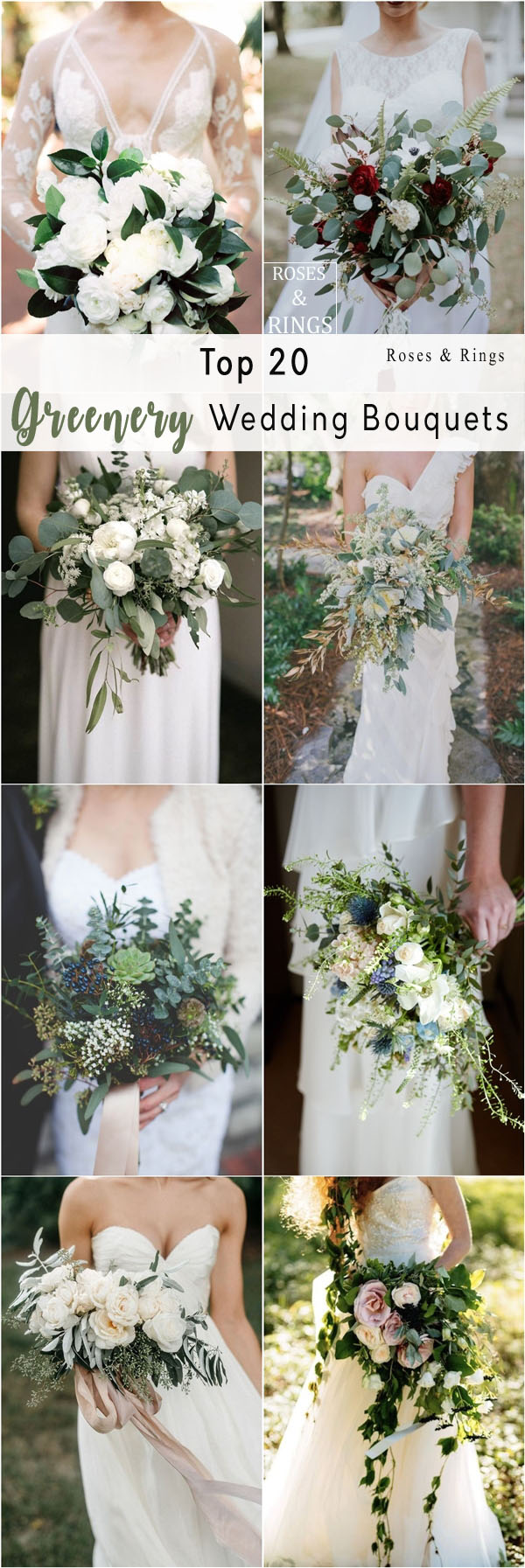 rustic greenery wedding bouquets